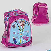 Рюкзак школьный С 36261, 2 отделения, 3 кармана, 3D принт, мягкая спинка
