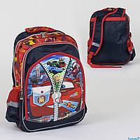 Рюкзак школьный С 36262, 2 отделения, 3 кармана, 3D принт, мягкая спинка