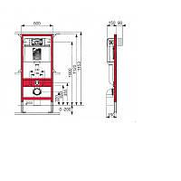 Инсталляционная система для унитаза TECE base (9400001)