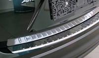 Накладка на задний бампер Mitsubishi outlander 2014--- (митсубиси аутлендер) нерж.