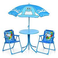 Детский столик с двумя стульчиками Bambi 93-74-DLF Дельфин, фото 1