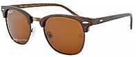 Солнцезащитные очки Ray Ban Clubmaster 3016 C8 поляризационные Brown (реплика)