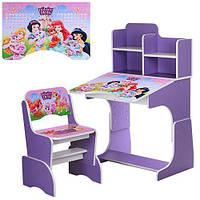 Детская парта растишка Bambi W 2071-8-6 Disney Princess Pets Фиолетовый