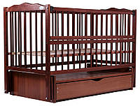 Кровать Babyroom Веселка маятник, ящик, откидной бок DVMYO-3  бук тик, фото 1