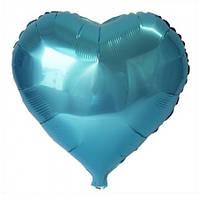 Шарик (45см) Сердечко голубое