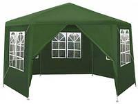 Садовый павильон 2x2x2м зелений 6-секционный + 6 СТЕН Палатка Павильон Шатер P0121