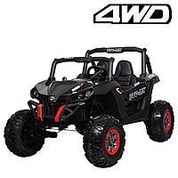 Детский двухместный электромобиль Багги 4WD M 3602EBLR-2 черный