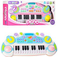 Синтезатор детский CY-6032B, 24 клавиши, музыка, свет, запись