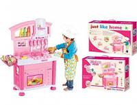 Детская большая кухня музыкальная игровой набор 6821-C розовая