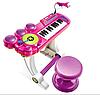 Детский синтезатор на ножках BB69B розовый