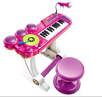 Детский синтезатор на ножках BB69B розовый, фото 1