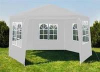 Садовый павильон 2x2x2м белий 6-секционный + 6 СТЕН Палатка Павильон Шатер P0122