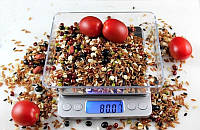 Ювелирные электронные весы с 2мя чашами 0,01-500гр 1729B (3624)