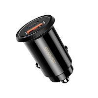 Автомобильное зарядное устройство Usams US-CC086 C12 (QC4.0+PD3.0) Fast Charging Black