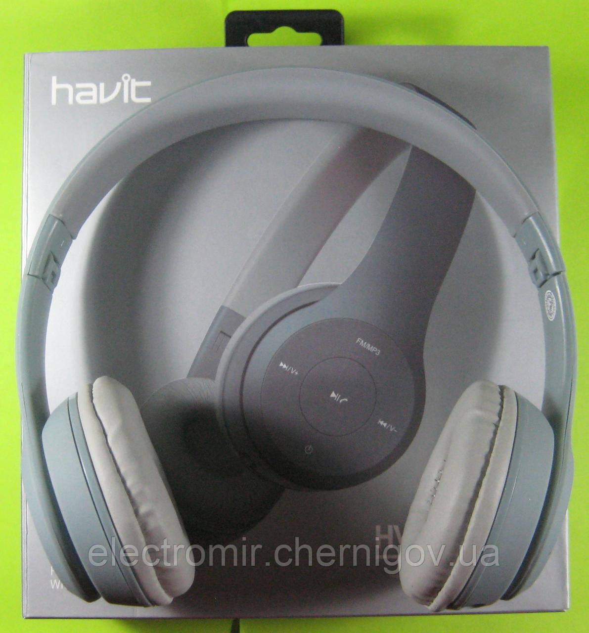 Наушники беспроводные Bluetooth Havit HV-H2575BT (серые)