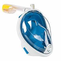 Маска для Підводного Плавання Повна Синя L/XL, S/M