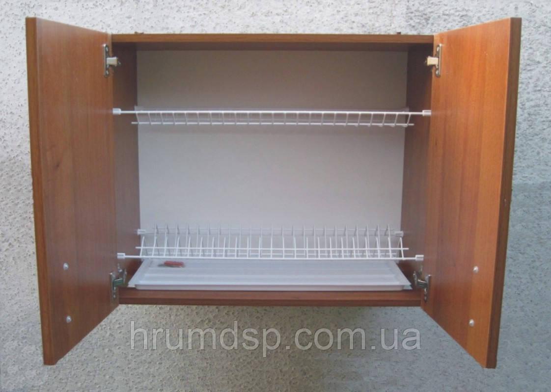 Сушарка для посуду 80см в шафі з петлями