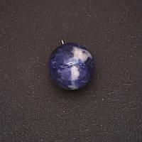 Кулон натуральный камень Содалит шар 20х23(+-)мм
