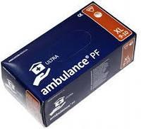 Перчатки AMBULANCE синие латексные повышенной прочности 50шт (25пар), размер XL