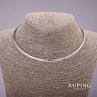 Цепочка-кольцо Xuping Родий L - 42мм d - 4мм