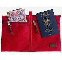 Дорожный органайзер для документов красный SKL34-223392