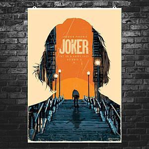 "Постер ""Джокер, коллаж с лестницей"". Joker, Хоакин Феникс. Размер 60x43см (A2). Глянцевая бумага"
