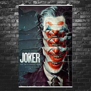 "Постер ""Джокер из обрывков афиш"". Joker, Хоакин Феникс. Размер 60x40см (A2). Глянцевая бумага"