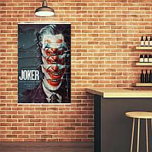"""Постер """"Джокер из обрывков афиш"""". Joker, Хоакин Феникс. Размер 60x40см (A2). Глянцевая бумага, фото 3"""