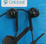 Наушники вакуумные Celebrat G6 (чёрные), фото 2