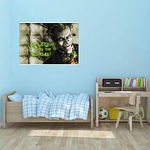 """Постер """"Джокер из Batman Arkham, на фоне стены"""", Joker. Размер 60x43см (A2). Глянцевая бумага, фото 3"""
