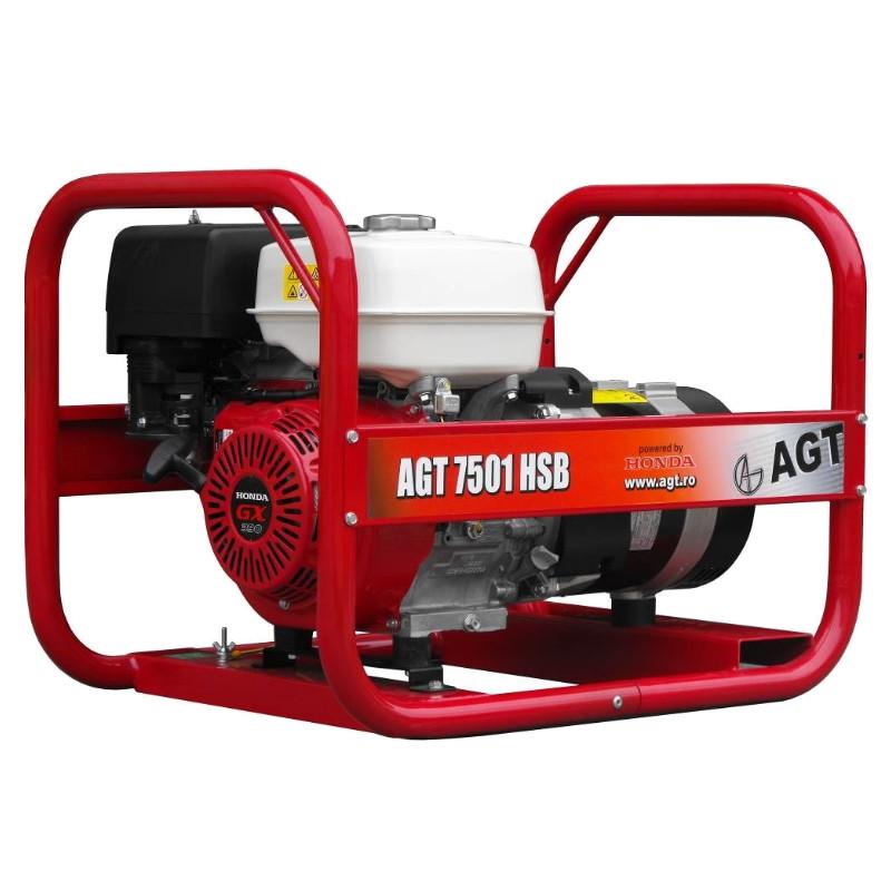 Однофазний бензиновий генератор AGT 7501 HSBE (6.4 кВт)