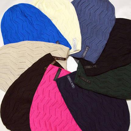 Женская вязаная шапка La Visio 254 двухсторонняя  , фото 2