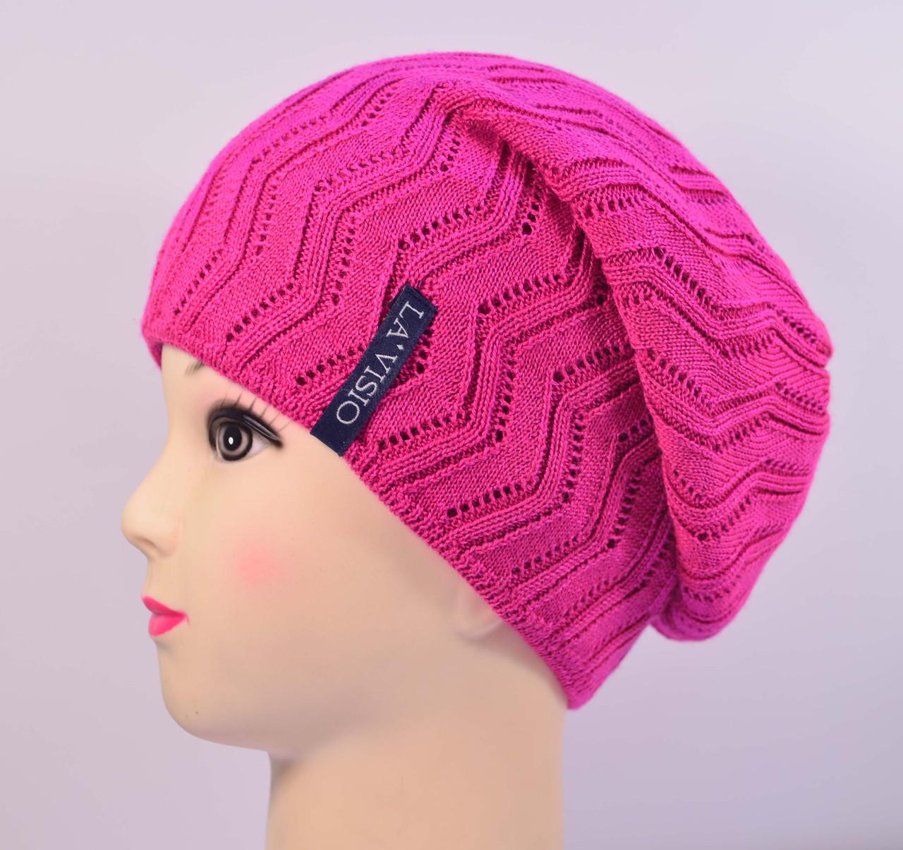 Женская вязаная шапка La Visio 254 двухсторонняя