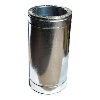 Труба дымоходная 0,5 м нерж/оцинк ø100/160 мм (толщина 0,8 мм)
