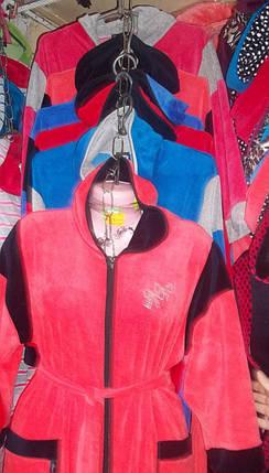 Велюровый  женский халат, фото 2