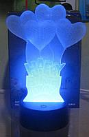 Оригинальный 3D светильник (Happy Birthday), фото 1