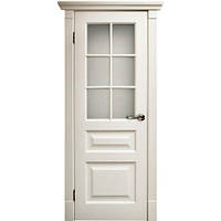 Двери TESORO-К2 ПО белая эмаль стекло сатин