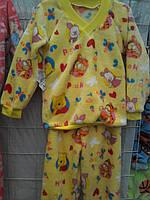 Детские махровые пижамы из хлопка на возраст 1-6 лет S195