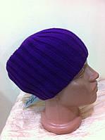 Фиолетовая  шапка чулок  унисекс  синяя