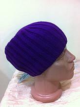 Фиолетовая  шапка чулок  унисекс  фиолетовая