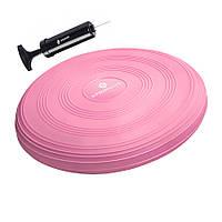 Балансировочная подушка сенсомоторная массажная Springos Pro Pink SKL41-238110