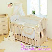 Комплект постельного в детскую кроватку Twins Romantik Сердечки, фото 1