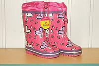 Резиновые сапоги на девочку розовые Сердце Tom.m 24 р