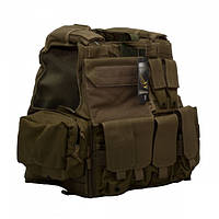 Бронежилет Flyye Force Recon Vest with Pouch Set Ver.MAR Khaki, фото 1