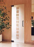 Стеклянная одностворчатая дверь с рисунком