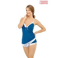 Женская пижама, костюм для дома майка  и шортики Ozlem 5030
