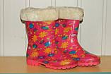 Резиновые сапоги на девочку розовые 29 р, фото 2