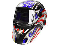 Сварочная маска хамелеон 9-13 DIN Титан Artotig SUN7 флаг США