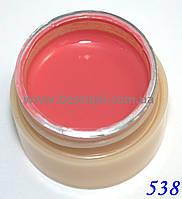 Гель-краска CANNI 5мл №538  темно-коралловая