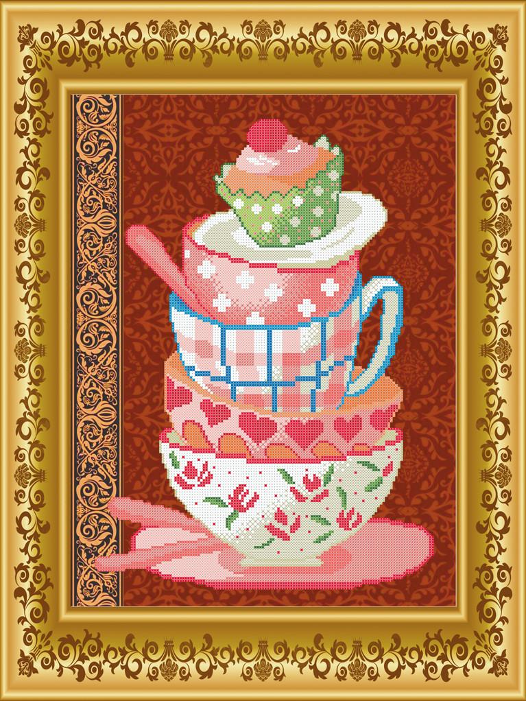 Схема для вишивки бісером Чайний сервіз. Арт. СКВ-124